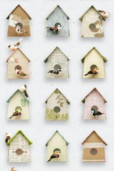 love the birdhouses!  poster