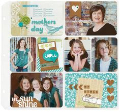 A pocket-scrapbook filled with family photos is a great gift for Mother's Day!