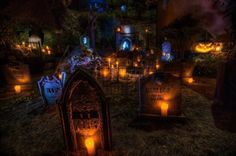 Spooky grave yard