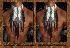 Long Fringed Bone Choker-From Tribal And Western Impressions- Review off of: http://www.indianvillagemall.com/dreamcatchers/bpshort.html