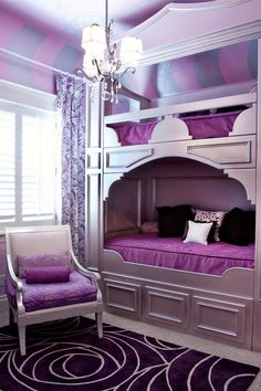 Image detail for -Purple Bunk Beds for Teenage Girls Small Bedroom Furniture Ideas