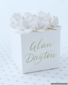 paper flower favour decoration