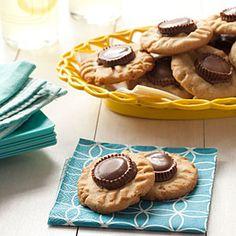 Peanut Butter-Cup Cookies | MyRecipes.com