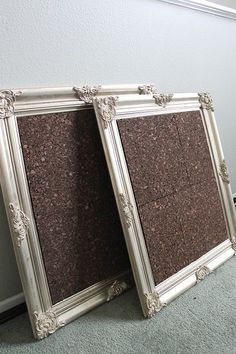 Neat way to have a cork board actually look good! A nice black frame surrounding it for the home office.