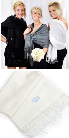 Embroidered Luxury Pashminas from Wedding Favors Unlimited