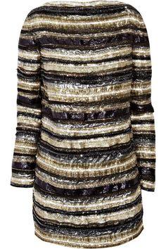 Balmain Embellished silk dress