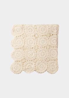 Cotton crochet throw   Toast