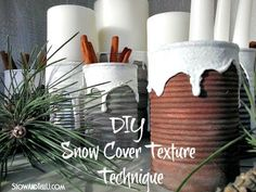 Snow Covered Texture and a Soup Can Centerpiece | Stow&TellU