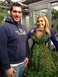 A dress topiary that will be entered into the flower show this year!