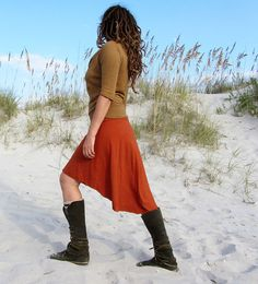 Mullet Wanderer Short Skirt (light hemp/organic cotton knit)