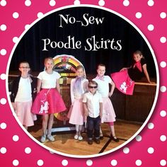 Easy Halloween Costumes: Make a No-Sew Poodle Skirt. Simple pattern with printable poodle template.