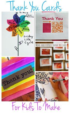 Beautiful thank you cards that kids can make - perfect for teachers at the end of term