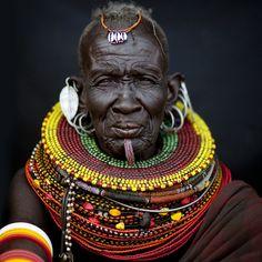 An elderly Turkana woman.