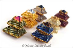 Pagoda Ring : Manek-Manek Beads - Jewelry | Kits | Tutorials | Workshops beadwork, beadart, bead work, bead jewelry, bead art