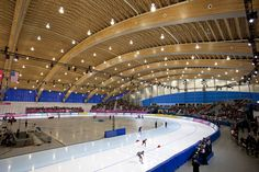 The Richmond Olympic Oval is located on the banks of the Fraser River, 14 kilometres south of downtown Vancouver. Located in the northwest corner of Richmond, the Oval is across the river from the Vancouver International Airport and near Richmond city centre.