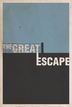 Nice minimalist poster #design for the classic WWII movie starring Steve McQueen,'The Great Escape' >