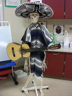 Mr. Bones dressed up for Los Dias de los Muertos.