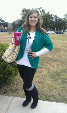 Love this teacher outfit!