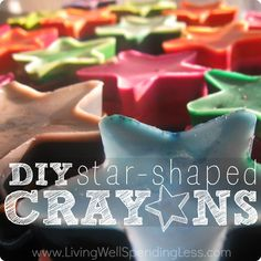 Need a fun way to use all those broken leftover crayons you've got lying around?  Why not upcycle them into fun crayon shapes?  Easy to make and makes a great gift!