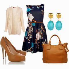 Spring Outfits | Dress It Up  Black Oriental dress, Cream Jacquard cardigan, DOLCE  GABBANA shoes, PRADA bag, Kenneth Jay Lane earrings  by beckyking