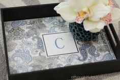 monogram tray
