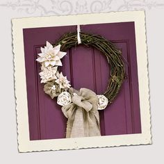 Rustic Sophistication French Cottage Holiday Wreath by mumbleTpeg, $95.00