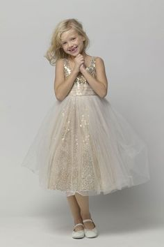 Sparkly Sequined Dress | 41 Flower Girl Dresses That Are Better Than Grown-Up People Dresses