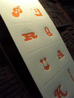 HyperQuake 10th Anniversary Letterpress Poster. Blind Deboss.