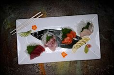 Left to right, a full Sashimi Plate featuring ahi tuna, sea bass, salmon and super white tuna at Koko Sushi in downtown Green Bay on Wednesday, May 25, 2011. Photo by Evan Siegle/Press-Gazette