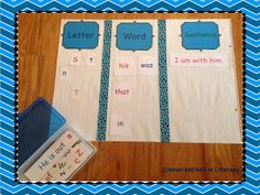 Sorting Center$:  Sorting Letters, Words, and Sentences- Great for Kindergarten and beginning 1st!