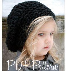 Crochet PATTERN-The Zoie Slouchy Hat