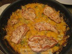 Creamy Chicken-Cabbage Skillet Casserole (Healthy)