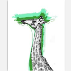 Cool Giraffe Print 11x14, $28, now featured on Fab.