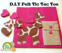 D.I.Y Giraffe Tic Tac Toe from felt