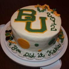 baylor cake, graduat cake, creativ cake, graduation cake
