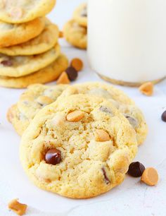 Chocolate Chip and Peanut Butter Chip Cookie! from @iambaker