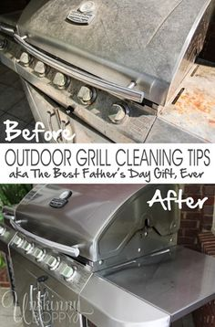 Grill cleaning before and after- wow!
