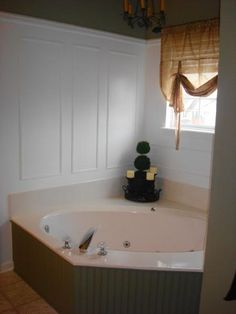 Master bathroom...the magic of molding!