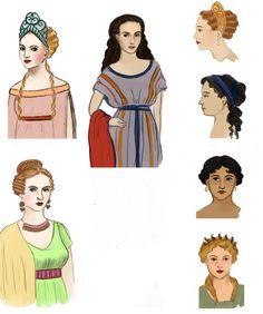 Roman hair and make up