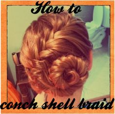 How to Conch Shell Braid conch braid, conch shell braid, fishtail braid, spiral french braid, beach braid