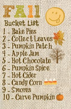 What is on your #Fall bucket list?