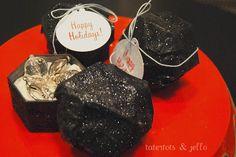 Naughty or nice?? -- make lump of coal gift boxes