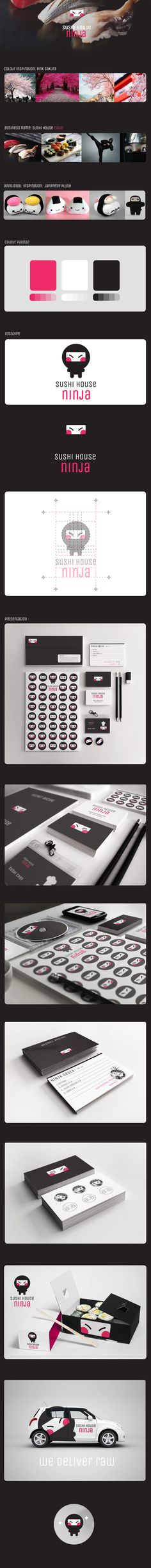 Sushi House Ninja by Cosa Nostra, via Behance #identity #packaging #branding #marketing PD