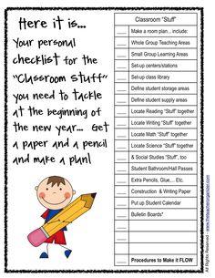"""The Teacher Organizer: Classroom Set-up 101: """"Classroom Stuff"""""""