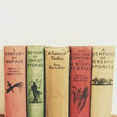 Vintage ghost story book spines. LOVE!