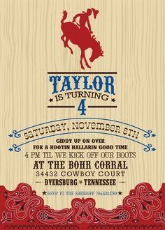 love this cowboy invite