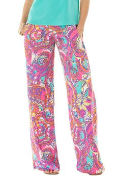 Lilly Pulitzer Cambridge Palazzo Pant in Sea and Be Seen