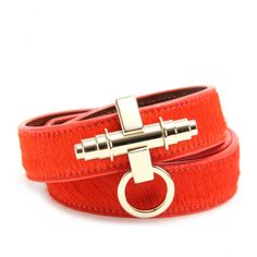 #Givenchy - Obsedia Wrapped Logo Leather Bracelet