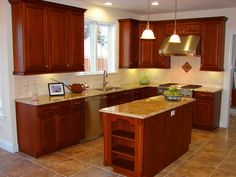 kitchen remodeling ideas pictures   Shaped Kitchen is Great for Cooks   small kitchen renovation ideas
