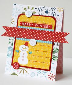 Send out HAPPY WINTER cards
